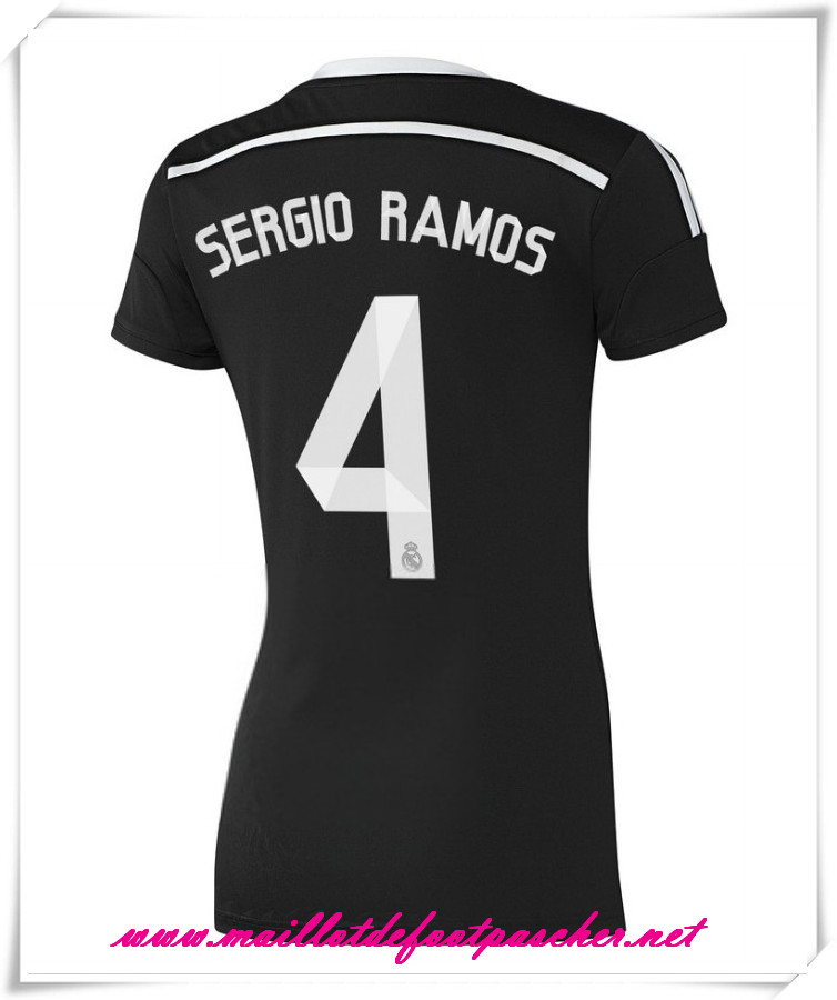 maillots-fr: La Liga Nouveau maillot foot Real Madrid Femme 2014 2015 Saison Third (Ramos 4)