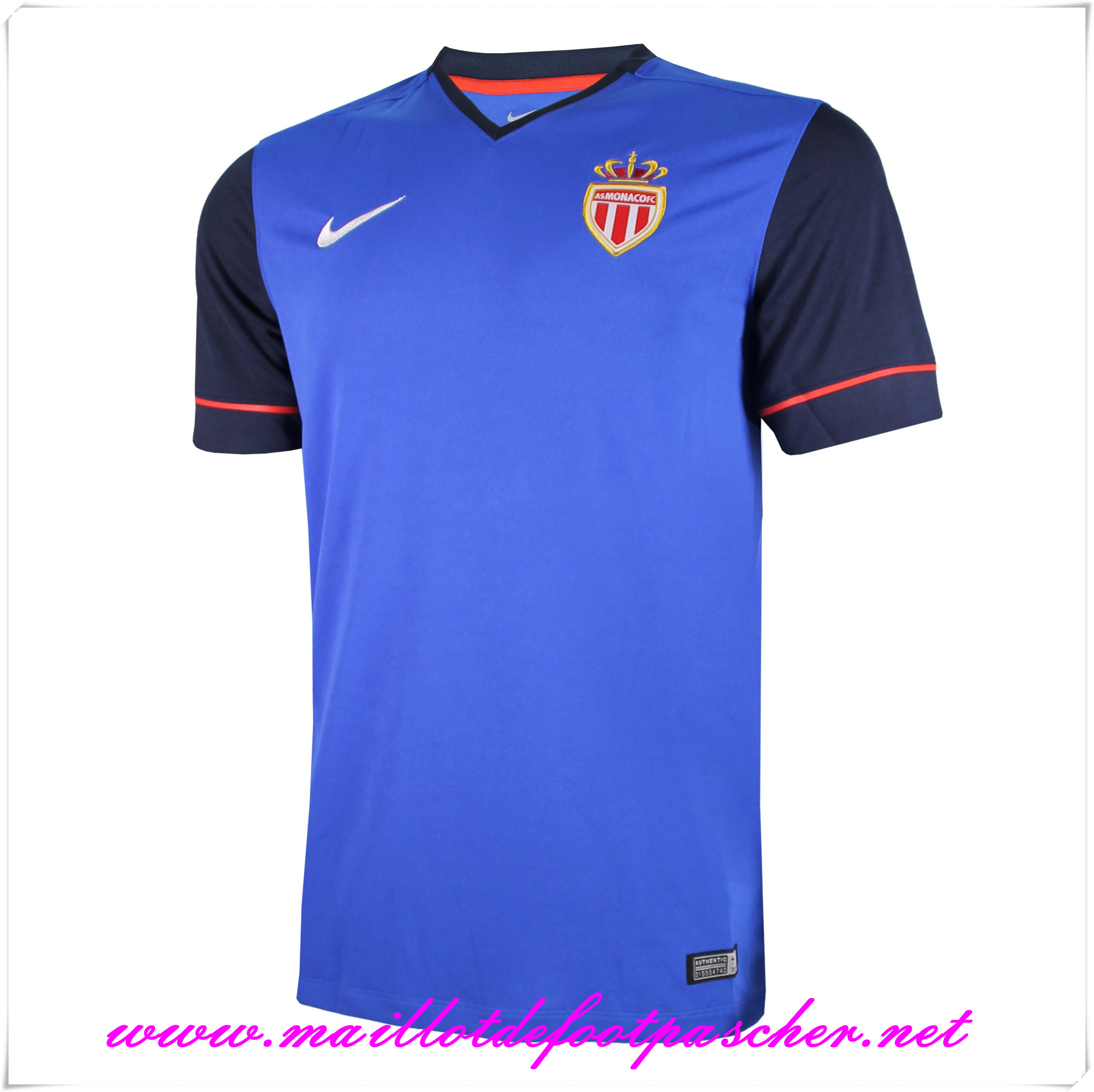 maillots-fr: Ligue 1 Nouveau maillot foot AS Monaco Exterieur 2014 2015